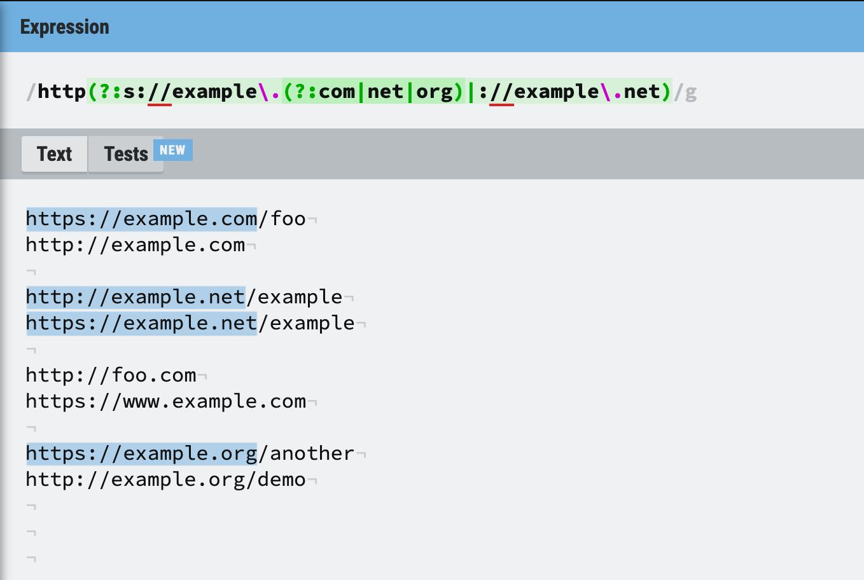 Testing Grex regex against input