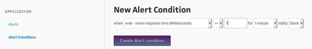 Creating New Alert Conditions